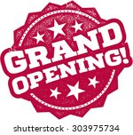 grand opening rubber stamp sign | Shutterstock .eps vector #303975734