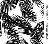Graphic Pattern With Palm...