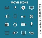 movie  cinema  film  tv flat... | Shutterstock .eps vector #304002824
