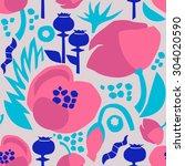 seamless floral vector pattern... | Shutterstock .eps vector #304020590