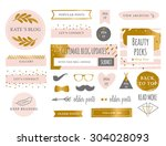 trendy branding blog kit icons. ... | Shutterstock .eps vector #304028093