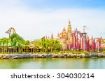 singapore   july 20  tourists... | Shutterstock . vector #304030214