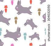seamless kawaii pattern with... | Shutterstock .eps vector #304032050