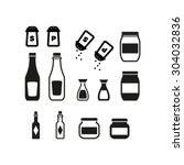 jar icon set   Shutterstock .eps vector #304032836
