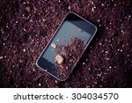 Smart Phone Dirty With Soil