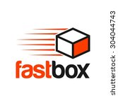 delivery logo template | Shutterstock .eps vector #304044743