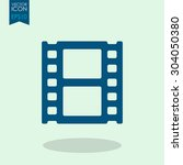 vector film strip icon. | Shutterstock .eps vector #304050380