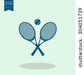 tennis rackets with ball vector ...   Shutterstock .eps vector #304051739