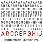 set of rubber stamp characters  ... | Shutterstock .eps vector #304054496
