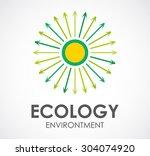 ecology environment circle line ... | Shutterstock .eps vector #304074920