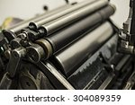Old Printing Machine With Oil ...