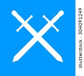 sword icon beautiful  isolated   Shutterstock . vector #304091249