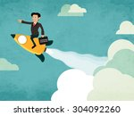 creative illustration of a... | Shutterstock .eps vector #304092260