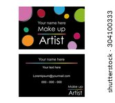 vector business card  ... | Shutterstock .eps vector #304100333