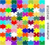 puzzle jigsaw | Shutterstock .eps vector #30410518
