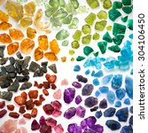real colorful gemstones... | Shutterstock . vector #304106450