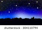 the star sky | Shutterstock . vector #304110794