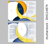 abstract colored brochure... | Shutterstock .eps vector #304114874