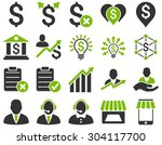 trade business and bank service ... | Shutterstock .eps vector #304117700