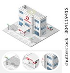 isometric high quality city... | Shutterstock .eps vector #304119413