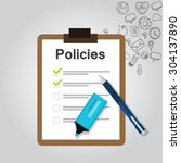 policies list board company... | Shutterstock .eps vector #304137890