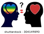 gender difference in love and... | Shutterstock . vector #304149890