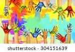 image of human hands in...   Shutterstock . vector #304151639