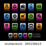 online store icons    colorbox... | Shutterstock .eps vector #304158614