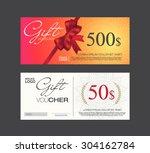 voucher  gift certificate ... | Shutterstock .eps vector #304162784
