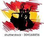 Silhouette Flamenco Dancer Ove...