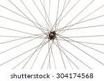 Old Wheel Of Bicycle Spoke...