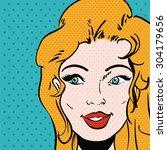 pop art design  vector... | Shutterstock .eps vector #304179656