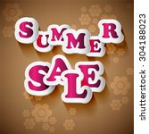 summer sale collection. text... | Shutterstock .eps vector #304188023