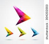 colorful arrow symbol logo... | Shutterstock .eps vector #304202003