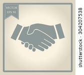 icon handshake. background for...   Shutterstock .eps vector #304207538