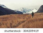 backpacker go into the... | Shutterstock . vector #304209419