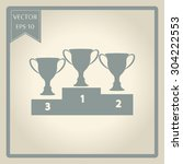 vector champions cup icons  | Shutterstock .eps vector #304222553