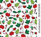 Cartoon Christmas Seamless...