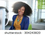 portrait of a smiling woman... | Shutterstock . vector #304243820