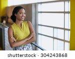 portrait of a confident...   Shutterstock . vector #304243868
