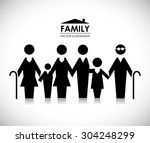 family design  vector... | Shutterstock .eps vector #304248299