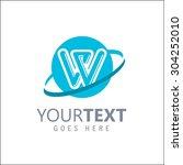 modern alphabetical logo design ... | Shutterstock .eps vector #304252010