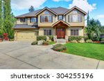 luxurious home with well kept... | Shutterstock . vector #304255196