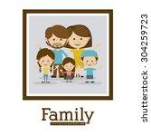 family design  vector... | Shutterstock .eps vector #304259723