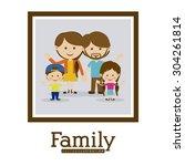 family design  vector... | Shutterstock .eps vector #304261814