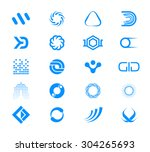 vector icons and shapes... | Shutterstock .eps vector #304265693