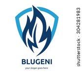 modern fire logo   Shutterstock .eps vector #304281983