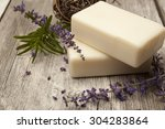 Lavender Soap With Sprigs Of...