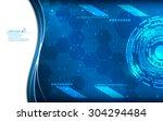 vector abstract tech innovation ... | Shutterstock .eps vector #304294484
