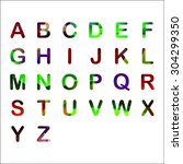 alphabet set polygon  colorful... | Shutterstock .eps vector #304299350